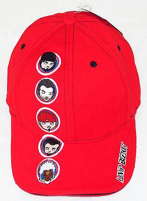 """LIMP BIZKIT CAP/HAT """"Cartoons"""" L/XL Red Authentic Licensed NEW"""