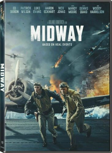 Midway (DVD, 2020, Brand New - Luke Evans - Woody Harrelson - Free Shipping