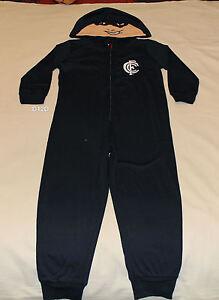 Carlton Blues AFL Boys Mascot Printed Hooded Onesie Pyjama Size 5 New