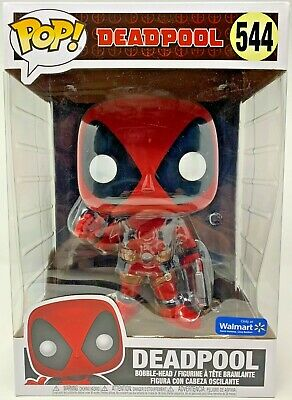 "Funko POP! Marvel: Deadpool - 10"" Deadpool w/Gun (Red)  Walmart Exclusive 544"
