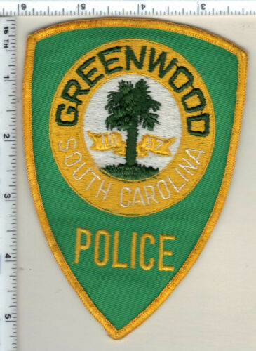 Greenwood Police (South Carolina) Uniform Take-Off Shoulder Patch from 1989