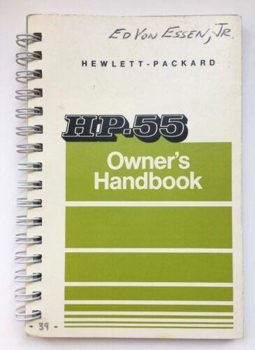 Original HP-55 Calculator Spiral Bound Owner