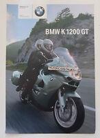 Bmw K1200 Gt Opuscolo Depliant Brochure Reclame Prospekt 1 -  - ebay.it