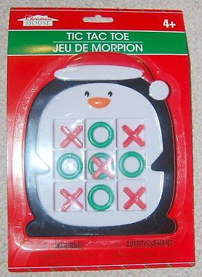 Tic-tac-toe Christmas Penguin Winter Holiday Travel Game Kids *USA SELLER* (Christmas Tic Tac Toe Game)