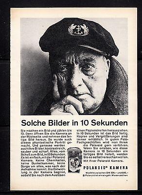 3w414/ Alte Reklame - von 1961 - POLAROID Kamera