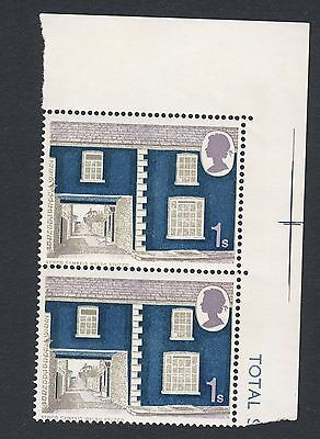 1970 - SG 817 (Vert Pair with Gutters) - 1s - Welsh Stucco - MNH (1039)