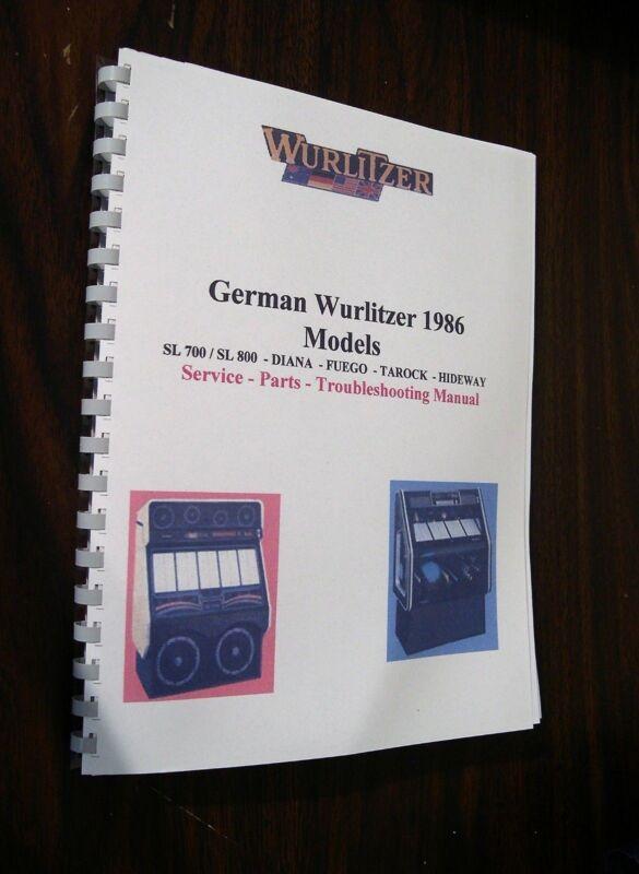German Wurlitzer 1980  Manual