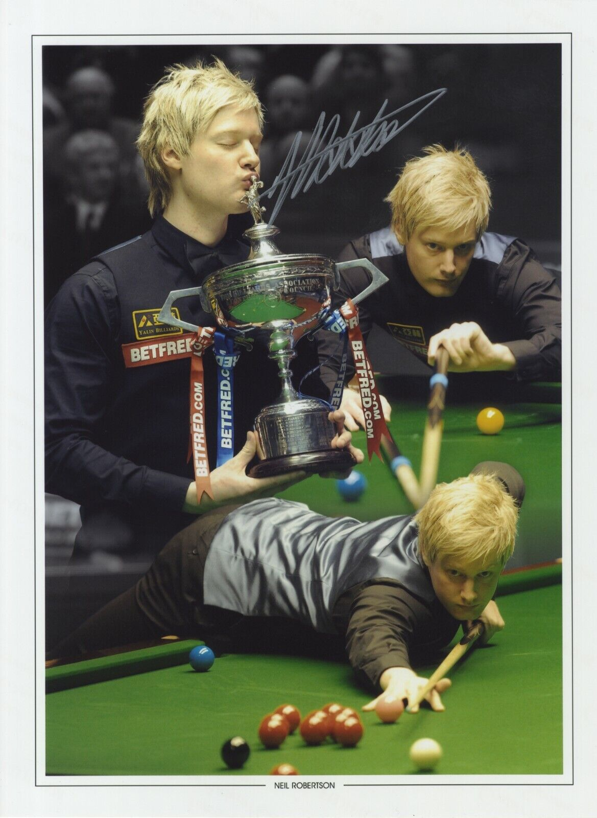 Neil Robertson  Australian Snooker Player '2010 World Champion' I/P Signed Photo