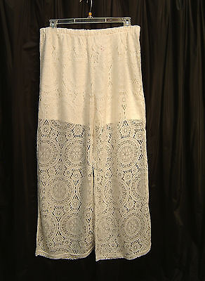 (OPEN WEAVE LACE PULL-UP PANTS~WOMENS/JUNIORS JRS PLUS~MISSES~2X~1X~0X~XL~XXL~~)