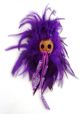 Hawaiian Feathered Ikaika War Helmet - Purple & Lavender