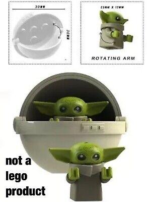 Custom Minifigure - baby yoda w/ pod set - Mandalorian-Star Wars - USA seller