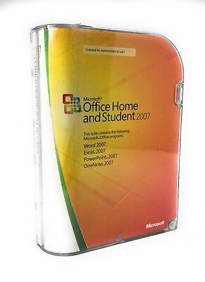 Microsoft Office 2007 Home Student w/ Product Key Word Excel PowerPoint OneNote