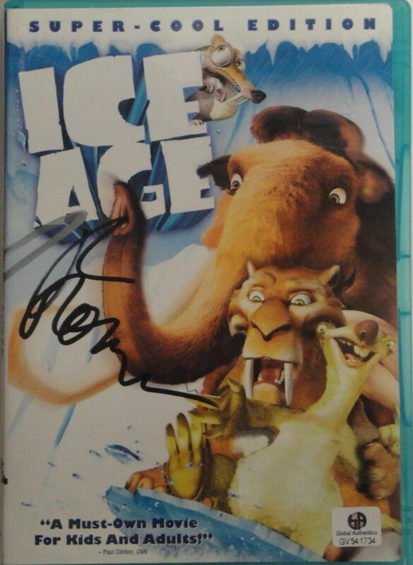 Ice Age Signed DVD Cover Ray Romano John Leguizamo Chris Wedge GA 541734
