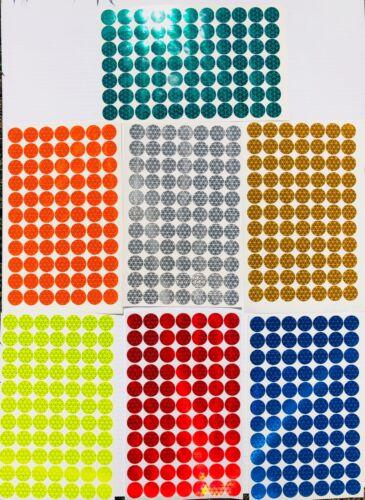 "77 Oralite Reflective 3/4"" V98  Dots (Lime,Red,White,Orange,Blue,Yellow,Green)"