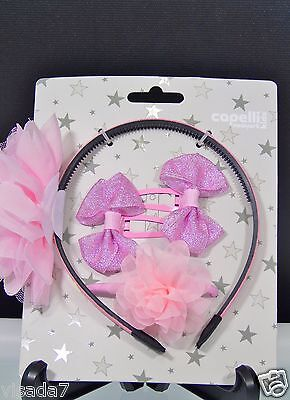 Girls Hair Accessories Capelli Kids of New York Multi Ribbon Pink Sparkling NWT for sale  Shipping to India
