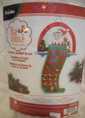 BUCILLA THE ELF ON THE SHELF ADVENT CHRISTMAS CALENDAR FELT EMBROIDERY KIT NEW