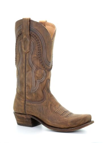 CORRAL, Mens, Distressed, Brown, Narrow, Square, Toe, Cowboy, Boots, A3479, NIB, Size