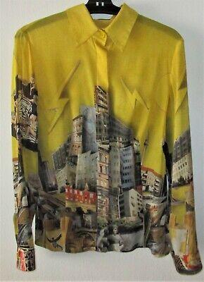 Versace chemise jaune tim roeloffs collection 2008/2009 rares