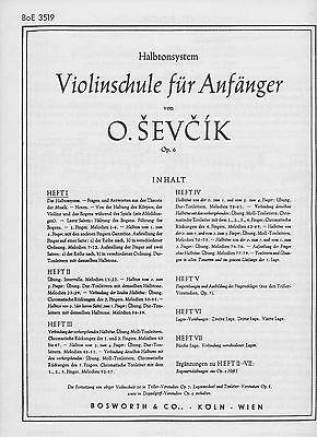 O. Sevcik op 6 Violinschule für Anfänger Heft I