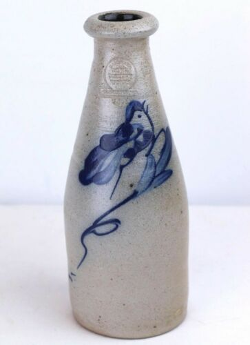 Older Rowe Pottery Works Bottle Bird Design 1988 8.5
