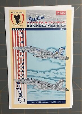 1/32 Freedom Hornets Pt 1 F/A-18C Decals Eagle Strike Productions 32049