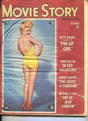 Movie Story Magazine-Betty Grable-John Wayne-Michael O'Shea-Dec-1943