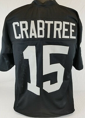 Michael Crabtree Football - Michael Crabtree Unsigned Custom Sewn Black Football Jersey Size - L, XL, 2XL