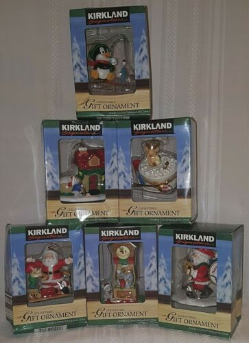 Kirkland Signature Vintage Collectible Christmas Ornaments Lot of 6 New!