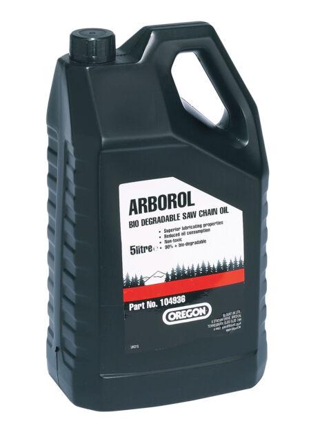 BRAND NEW   5L OREGON BIO CHAINSAW OIL   ARBOROL PLUS   P/N: 104936