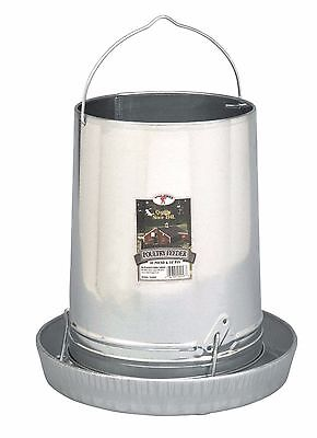 LITTLE GIANT GALVANIZED HANGING FEEDER Steel w/Rounded Edges for Safety 30Lb
