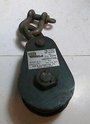 Dhr Model M-5 Snatch Block 3 12 Ton Comparison 1 34 Ton Working Load