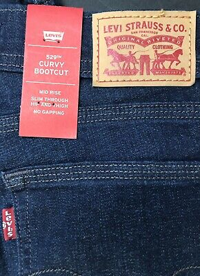 Bootcut Jeans 10 Short (Levis Womens 529 Curvy Bootcut Jeans Sz 10 Short Distressed NEW )