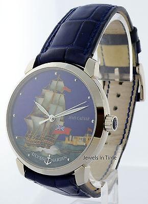 Ulysse Nardin San Marco HMS Caesar Cloisonne 18k Gold Watch Box/Paper 8150-111