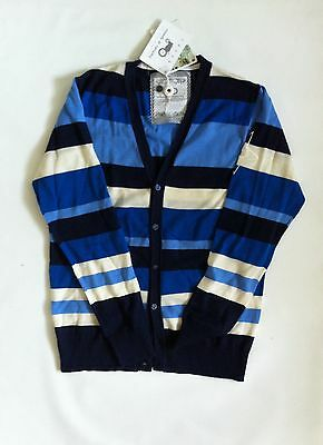 BNWT Moods Of Norway Unisex Casper Cardigan Sz L Blue