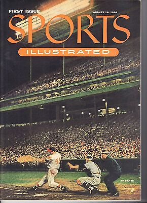 Vintage 1954 Sports Illustrated 1st Issue With Baseball Cards Insert