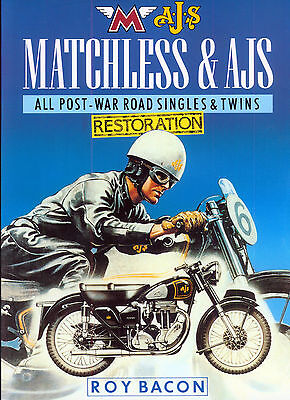 Book - AJS & Matchless Restoration Post-War Singles & twins by Roy Bacon G3L 18