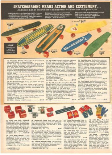 VINTAGE 1978 HOBIE SKATEBOARDS CATALOG PAGES PRINT ADS CLIPPINGS