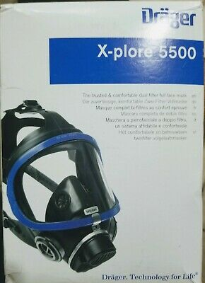 Drager X-plore 5500 Dual Filter Full Face Mask -