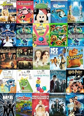 Disney | Pixar | Dreamworks | WB | Sesame Street DVD Movies Lot  You Choose