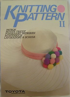 Toyota Knitting Patterns Book II for Most knitting Machines - T181 - Knitting Patterns Knitting Machines