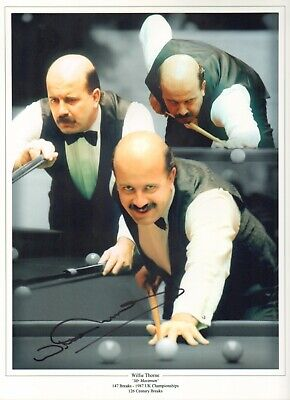 BARGAIN  - WILLIE THORNE - Snooker - SIGNED MONTAGE PHOTOGRAPH - AFTAL/UACC RD