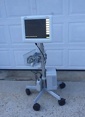 Spacelabs Ultraview 1600 Sl Patient Monitor 90364 W Cart Leads And Cables