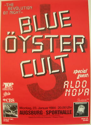 BLUE OYSTER CULT ALDO NOVA CONCERT TOUR POSTER 1984 THE REVOLUTION BY NIGHT