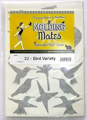 MOLDING MATES BIRD DECALS 22 VARIETY PACK Birds Removable Wall Decal  >NEW