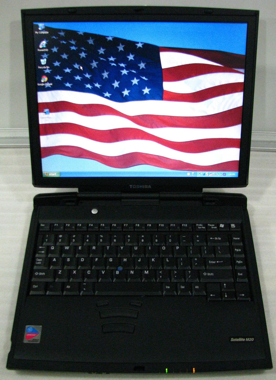 1 Toshiba Satellite M20 Business Laptop Notebook DVD/CDRW 1.3GHZ 40GB 512MB WIFI