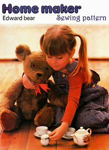 Vintage SEWING PATTERN for Large Teddy Bear Cuddly Soft Toy, SA7005