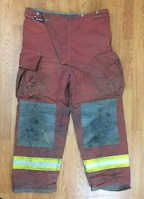 Firefighter Red Bunker Turnout Pants 42 X 31 Quest