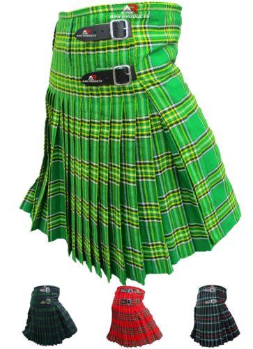 Mens Kilt Scottish Tartan Kilts 13oz Highland Casual Wear 4 Acrylic Tartans AAR
