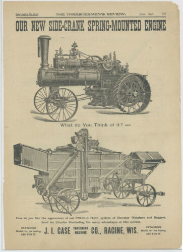 1898 J. I. Case Threshing Machine Co. Original Ad: Thresherman