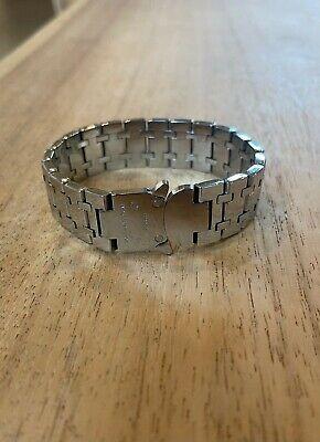 """1017 ALYX 9SM - Silver Track Link """"Royal Oak"""" Bracelet - Size L/XL"""